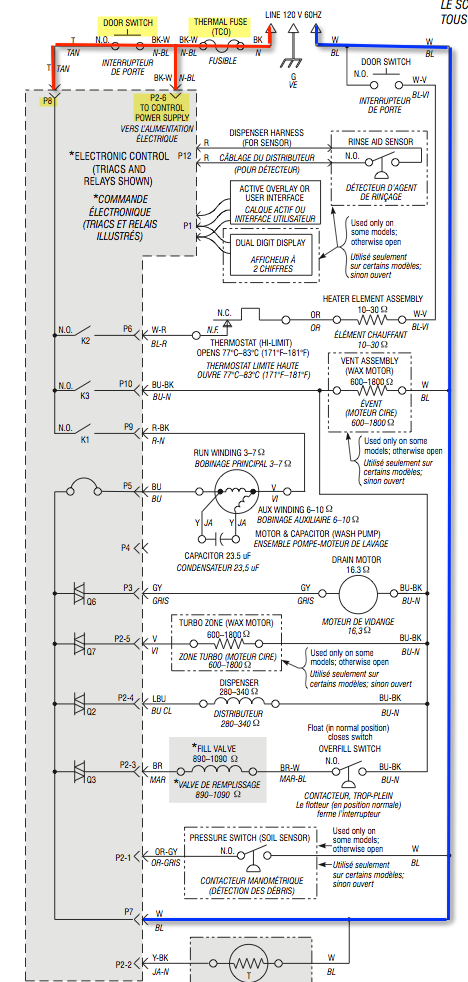 Whirlpool Dishwasher Schematic | The Master Samurai Tech Academy | Whirlpool Schematics |  | Master Samurai Tech
