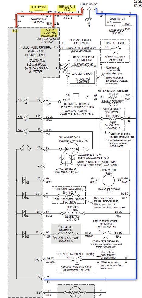 Whirlpool Dishwasher Schematic - Wiring Diagram Site on