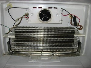 Lurking behind your freezer wall - the evaporator coils!